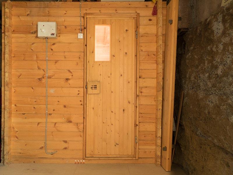 Chasa Spadla: Finnische Sauna