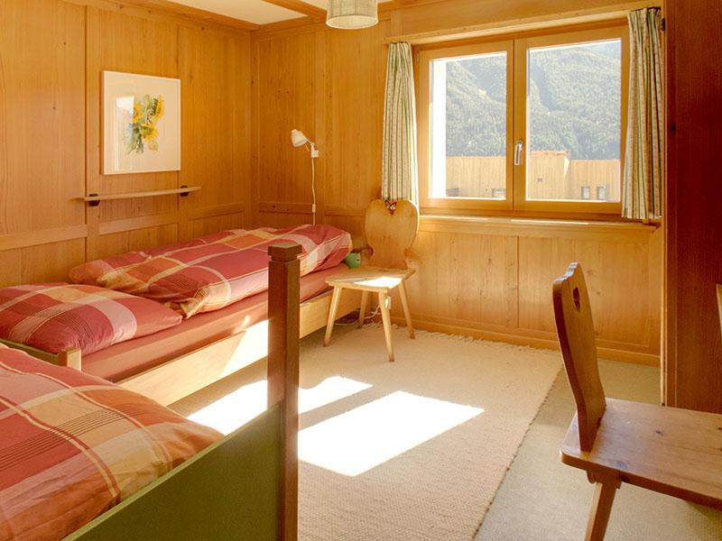 Chasa Spadla: Schlafzimmer im Parterre