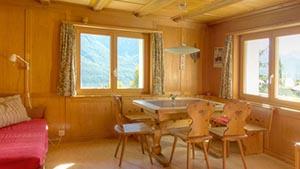 Ferienhaus Sent, Engadin Chasa Spadla Wohnzimmer
