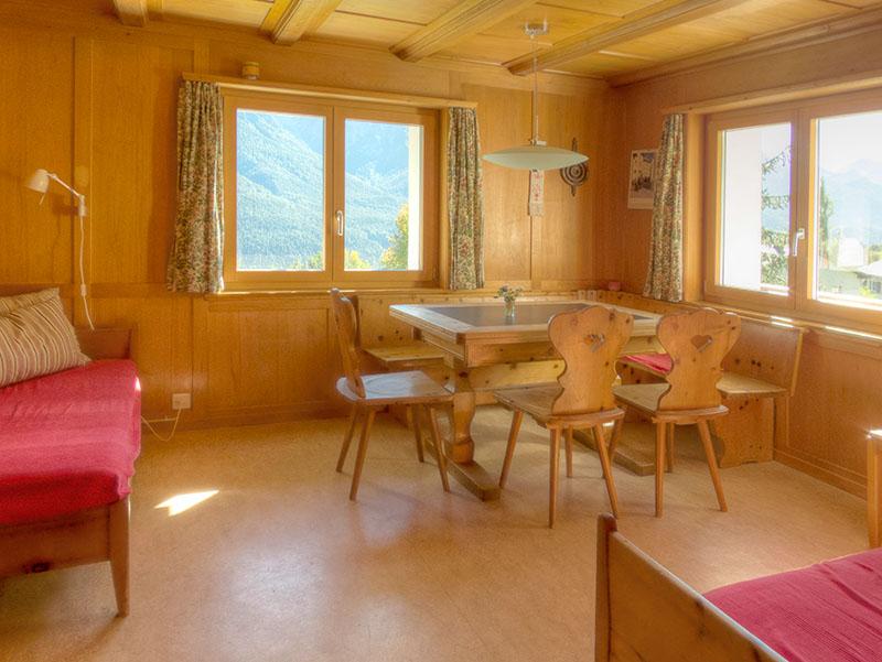 Chasa Spadla: das Wohnzimmer
